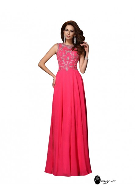 AmyGown Sexy Long Prom Evening Dress T801524705486