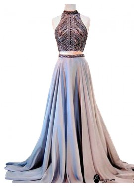 AmyGown Two Piece Long Prom Evening Dress T801524704205