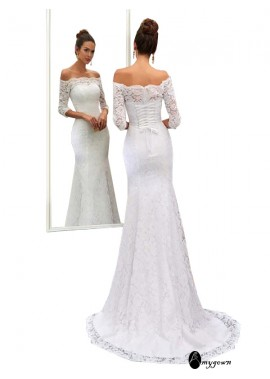 AmyGown 2021 Beach Lace Wedding Dresses T801524714807