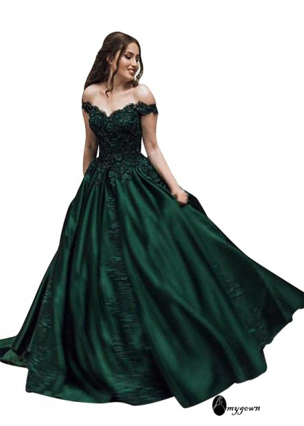 AmyGown Plus Size Long Prom Evening Dress For Women