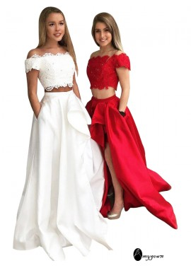 AmyGown Two Piece Long Prom Evening Dress T801524703851