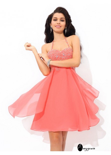 AmyGown Sexy Short Homecoming Prom Evening Dress T801524710483