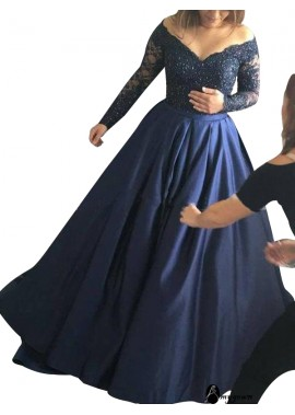 AmyGown Long Sleeve Lace Long Prom Evening Dress T801524703568
