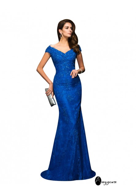 AmyGown Mermaid Mother Of The Bride Evening Dress T801524704728