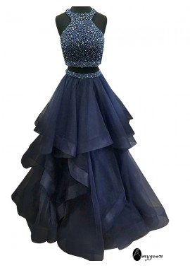 AmyGown Two Piece Long Prom Evening Dress T801524703666
