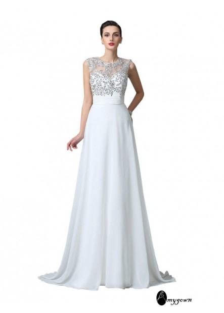 AmyGown White Dress for Juniors T801524706444