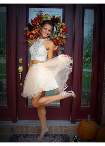 AmyGown 2 Piece Short Homecoming Prom Evening Dress T801524710135