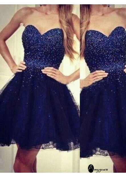 AmyGown Short Homecoming Prom Evening Dress T801524710275