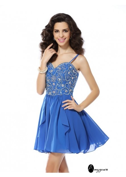 AmyGown Sexy Short Homecoming Prom Evening Dress T801524711172