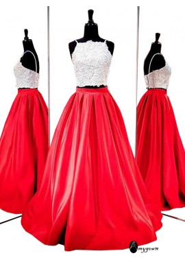 AmyGown Two Piece Long Prom Evening Dress T801524704038