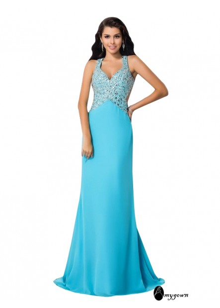AmyGown Long Prom Evening Dress T801524705939