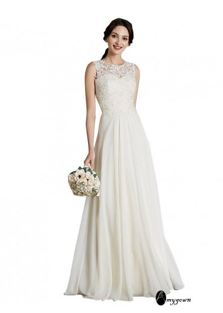 AmyGown 2021 Beach Wedding Dresses T801524714703