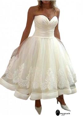 AmyGown Short Plus Size Wedding Dress T801525319958