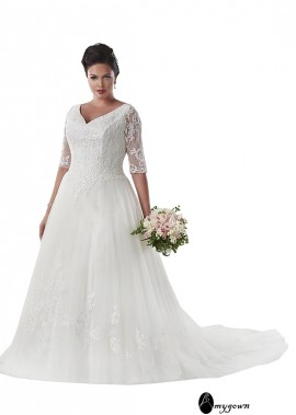 AmyGown Plus Size Wedding Dress T801525331194