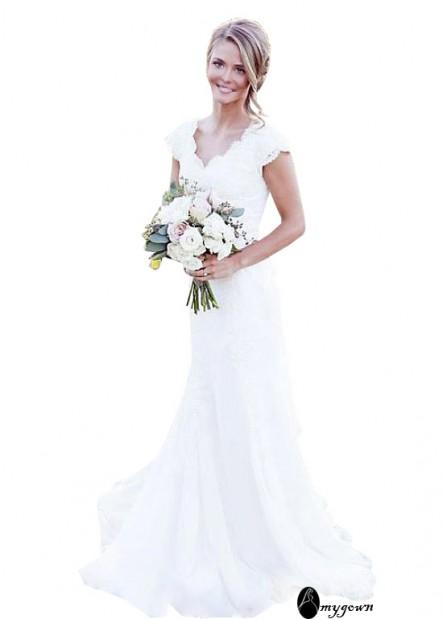 AmyGown Beach Wedding Dresses T801525318047