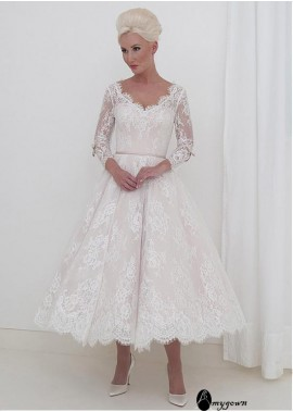 AmyGown Short Lace Wedding Dress T801525385300