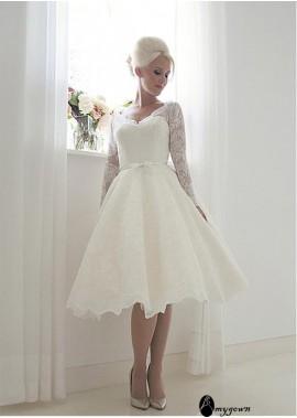 AmyGown Short Lace Wedding Dress T801525383602