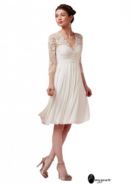 AmyGown Beach Short Wedding Dresses T801525317575