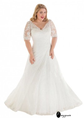 AmyGown Plus Size Wedding Dress T801525332264