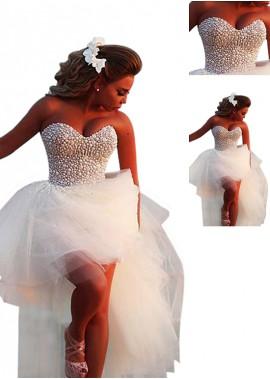 AmyGown Beach Short Wedding Dresses T801525322623