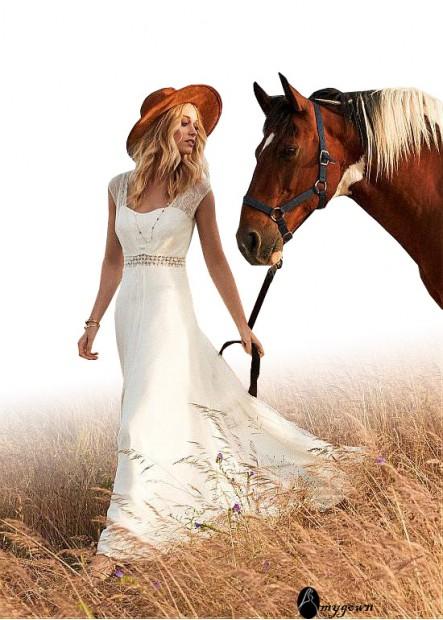 AmyGown Beach Wedding Dresses T801525317699