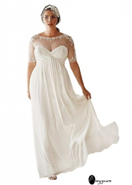 AmyGown Simple Plus Size Wedding Dress T801525317649