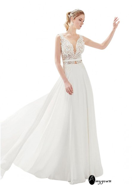 AmyGown Beach Wedding Dresses T801525320135