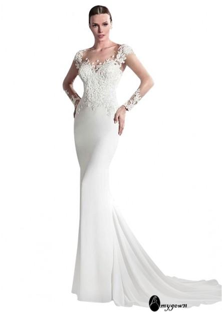 AmyGown Beach Wedding Dresses T801525321966