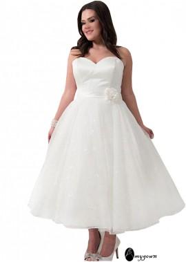 AmyGown Short Plus Size Wedding Dress T801525317605
