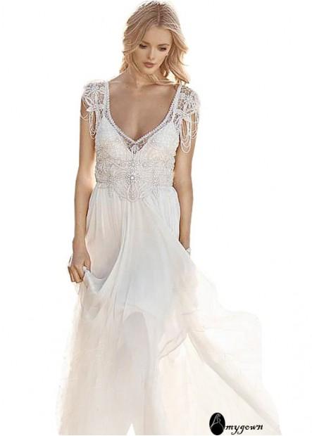 AmyGown Beach Wedding Dresses T801525319929